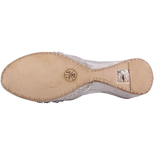 Unze Zapatillasdemujer'Puro'piedrapreciosaKhussaReinoUnidotamaño3-8 Plateado
