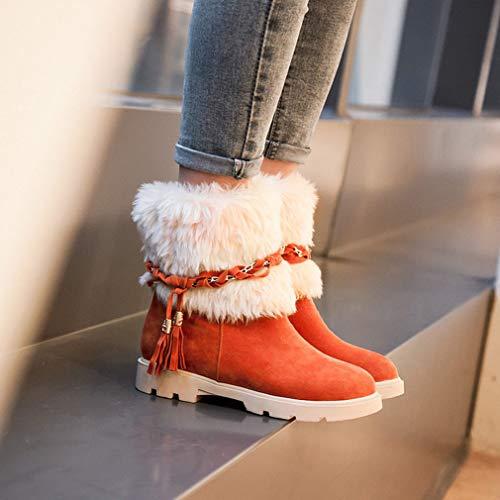 Neve Scamosciata Per Invernali Stivali Antivento B Calda Studenti Stivaletti Piatte Scarpe Grandi Impermeabili Comfort Da Donna In Pelle Y6ttq5