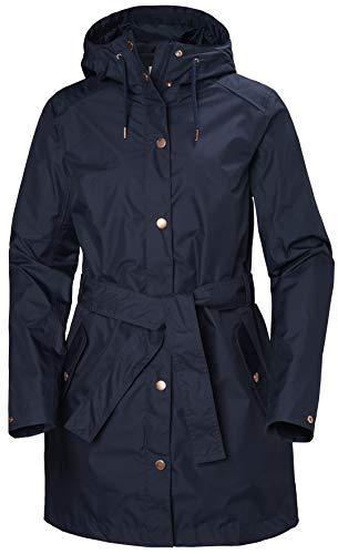 Helly Hansen Women's Lyness Ii Waterproof Rain Coat with Hood, Evening Blue, Large