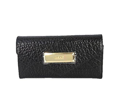 DKNY Beekman French Grained Leather Clutch Wa…