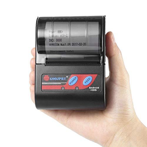 iBàste Mini Impresora Tickets Termica Inalámbrica Portátil ...
