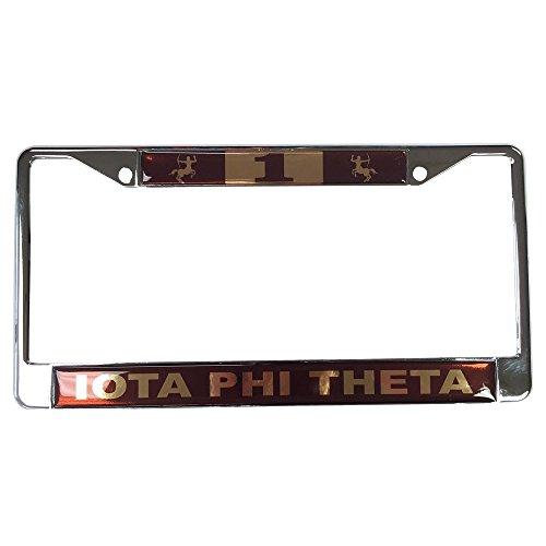 (Iota Phi Theta Fraternity Line Number # Metal License Plate Frame For Front Back of Car (#1 License Plate Frame))