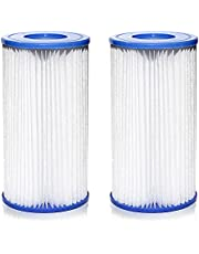 Pool Filters Type A/C, Swimming Pool Filter Pump Easy Set Replacement Pool Filter Cartridge Type A/C for Pool Cleaning, Above Ground Swimming Pool Cartridge Filter