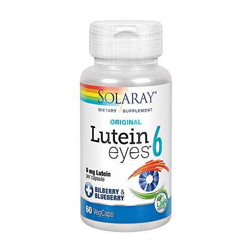 Solaray Lutein Eyes Supplement, 6 mg, 60 Count