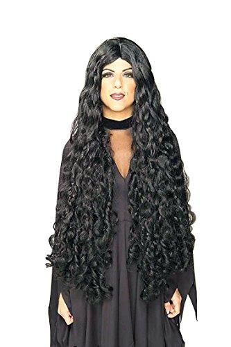 [Forum Novelties Women's Mesmerelda Wig, Black, One Size] (Wild Curl Black Wig)