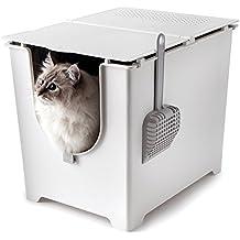 Flip Litter Box Kit Includes Scoop and Reusable Tarp Liner