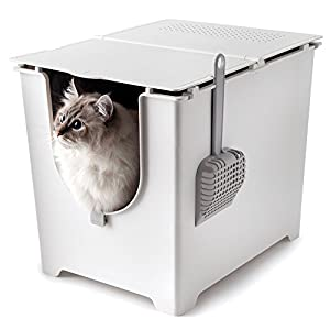 Modkat Flip Litter Box with Scoop and Reusable Liner  sc 1 st  Amazon.com & Amazon.com : Flip Litter Box Kit Includes Scoop and Reusable Tarp ... Aboutintivar.Com