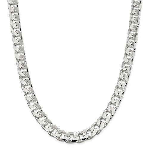 Sterling Silver 11.0mm Domed Curb Chain 22in Necklace by Diamond2Deal