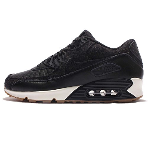 Nike Men's Air Max 90 Premium, BLACK/BLACK-BLACK-SAIL, 8 - All Black Air Max 90