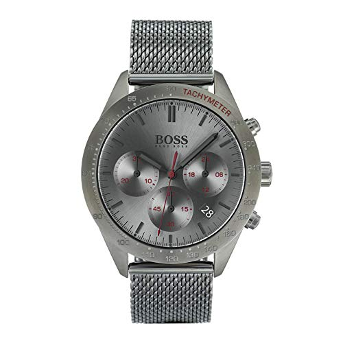 473980f2c Hugo Boss Watch Mens Chronograph Quartz Watch with Stainless Steel Strap  1513637: Amazon.co.uk: Watches