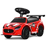 Costzon Kids Ride On Push Car, Licensed Maserati Foot to Floor Riding Car with Varied Sounds, Wide Seat & Storage Compartment, Moving Forward/Backward, Toddler Ride on Toy for Outdoor and Indoor Play