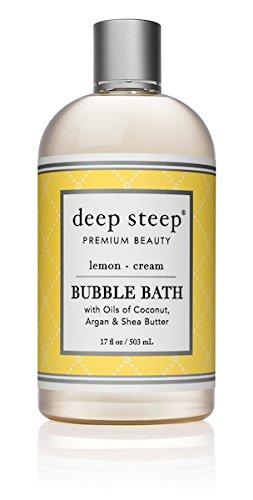Oranges Foaming Bath Cream (Deep Steep Bubble Bath, Lemon Cream, 17 Ounces)
