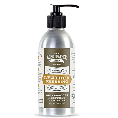 Aged Leather Pros Leather Conditioner Lotion (8 oz) | Rich Dressing Conditioner for Genuine Leather | Protects Purses, Shoes, Jackets, Couches, Auto Interior, Saddles and Much More