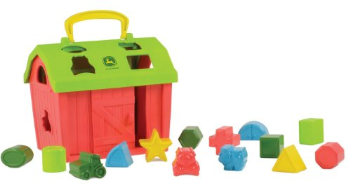 John Deere Barnyard Shape Sorter - Educational Toy for Baby & Toddler with 14 Shapes