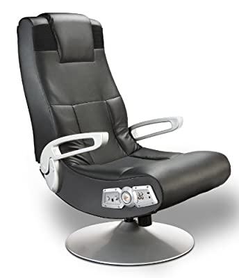 Ace Bayou X Rocker 5127401 Pedestal Video Gaming Chair, Wireless, Black from Ace Bayou