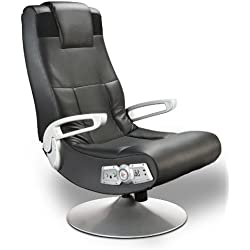 Ace Bayou X Rocker 5127401 Pedestal Video Gaming Chair, Wireless, Black