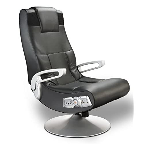X Rocker 5127401 Pedestal Video Gaming Chair Wireless Black