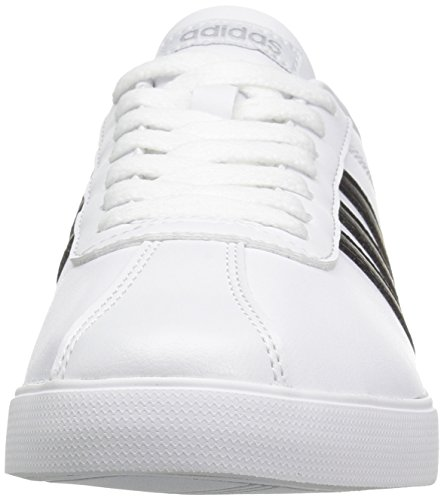 Fashion White Black Silver adidas Femme adidasB74559 Courtset Matte BWccUp