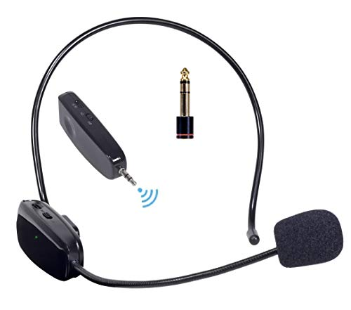Hisonic HS100A 2.4G 40-Channel Auto-pairing Wireless Headset Microphone (Best Portable Pa System 2019)