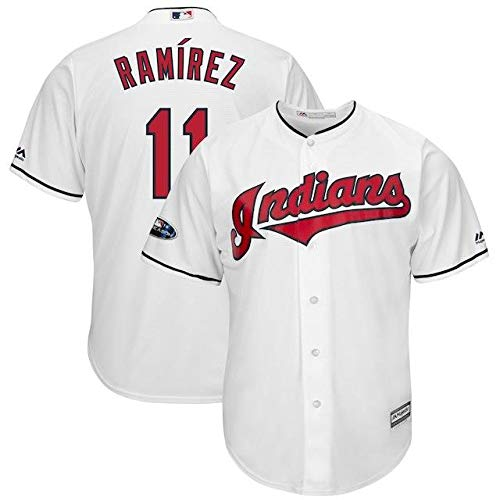 Majestic Majestic Jose Ramirez Ramirez Cleveland B07HK1P93N Indians スポーツ用品 White 2018 Postseason Home Cool Base Player Jersey スポーツ用品【並行輸入品】 S B07HK1P93N, 最新エルメス:9c2a155a --- cgt-tbc.fr