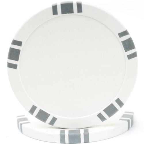 Trademark Poker 5 Spot Blank 100 Poker Chips, 11.5gm, White