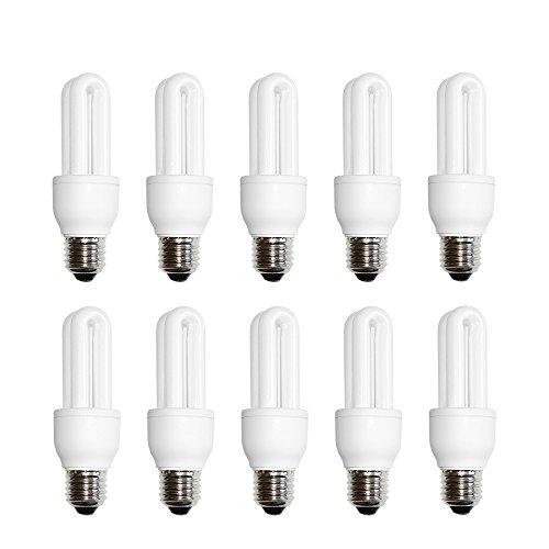 10 x nave spaarlamp buis 9W E27 extra koud wit 6500 K daglicht