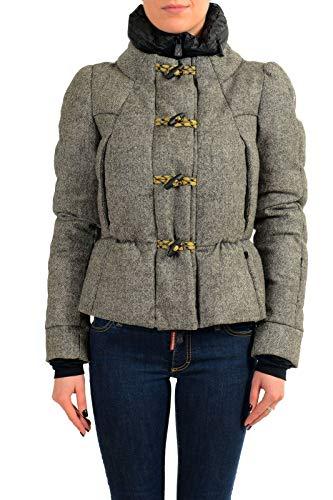 Moncler Women's Medel 100% Wool Down Jacket Coat Moncler Sz 1 US S Gray