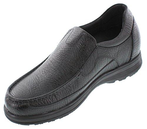calto–G18257,6cm größer die Höhe Steigerung Aufzug Schuhe–Schwarz-leicht