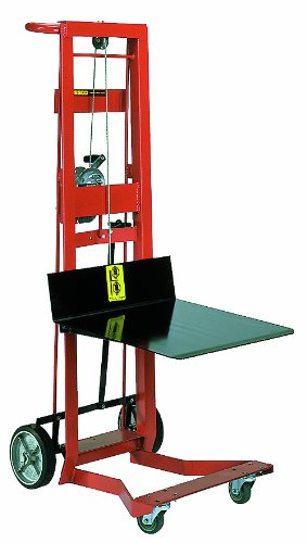 Wesco 260021 Steel Frame 4 Wheeled Winch Pedalift, 750-lb. Capacity, 54