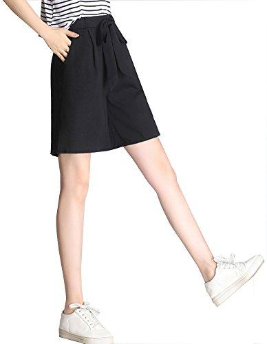 メンバー第二テキストANGELCITY レディースパンツ ワイドパンツ サマーウェア レディース ハイウエスト 五分丈 ファッション 優雅 シンプル 無地 ゆったり 薄い 通勤 涼しい 大きいサイズ PWJS38