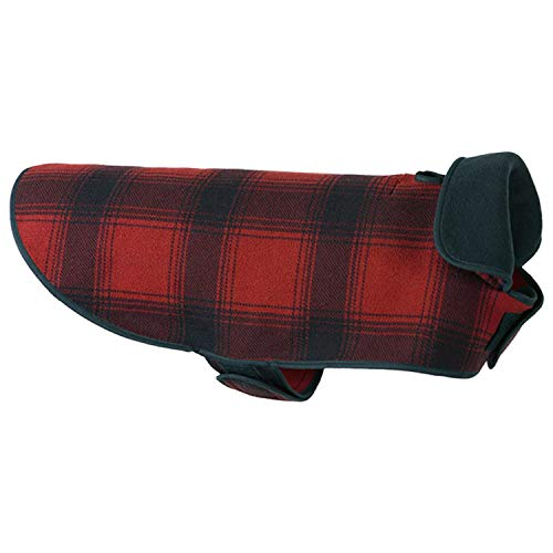 Stormy Kromer Men, Women Fleece Sk Dog Jacket Red/Black Plaid Xl