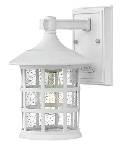 White Transitional Wall - Hinkley 1800CW Transitional One Light Outdoor Wall Mount from Freeport collection in Whitefinish,