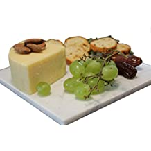 White Marble Cheese Board – Works as a Small cutting board – Premium Trivet/Small pot holder – Effective Shushi serving platter Size 7x7 inch ( 18x18 cm) by CraftsOfEgypt