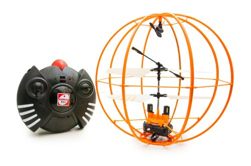 Space Ball - Infrared Remote Control 3CH R/C Flying Helicopter Orbit Sphere Gyroscope - Orange Version by Kyosho