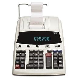 Victor - 1230-4 Fluorescent Display Printing Calculator, Black/Red Print, 3 Lines/Sec 1230-4 (DMi EA