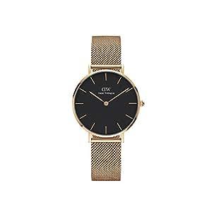 Daniel Wellington Women's Watch Classic Petite Melrose in Black 32mm