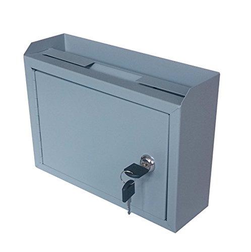 FixtureDisplays Metal Wall-Mountable Interoffice Mailbox Donation Box 10x7.2x3'' 15211-NF by FixtureDisplays (Image #1)