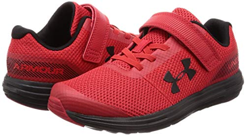 Under Armour Boys' Pre School Surge RN Alternate Closure Sneaker, Red (600)/Black, 3 by Under Armour (Image #5)