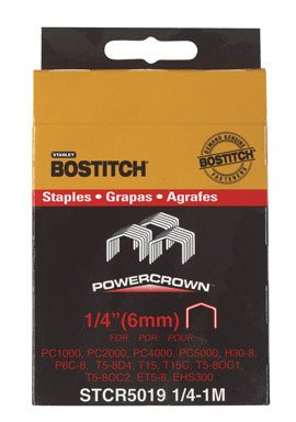 Stanley Bostitch 1000Pk 1/4' Staple Stcr50191/4-1M Power Nails Staples & Screws