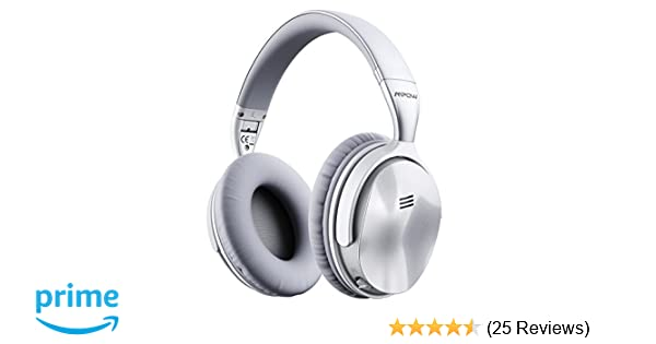 Amazon.com: Mpow H5 Active Noise Cancelling Headphones, ANC Over Ear Wireless Bluetooth Headphones w/Mic, Dual 40 mm Drivers, Superior Deep Bass for PC/Cell ...