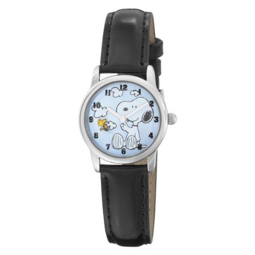 "Armitron Unisex 900266 Round ""Snoopy"" Black Strap Character Watch"