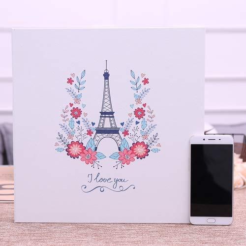Vivona Leather Photo Album DIY Handmade Film Sticker Korean Creative Couple Romantic Album Family Baby Souvenir - (Color: 18 inch)