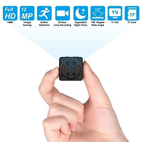 32GB Mini Spy Camera Wireless Hidden, Full HD 1080P Portable Small Covert Home Nanny Cam with Motion Detection and Night Vision,