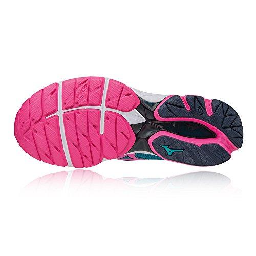 Womens Rider Mesh Glow Pink 20 Tile Mizuno Wave Trainers Blue pnRadqHw