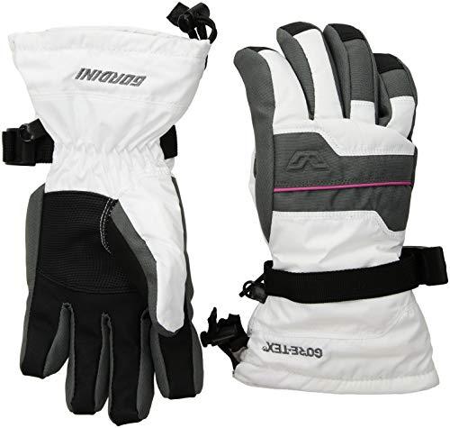 (Gordini Unisex Junior Gore-Tex Iv Waterproof Insulated Gloves, White/Gunmetal, Medium)