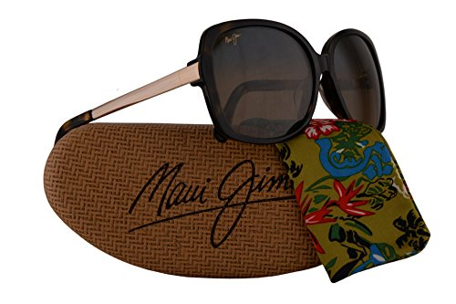 Maui Jim Melika Sunglasses Dark Tortoise Gold w/Polarized Bronze Lens - Sunglasses Closeout Designer