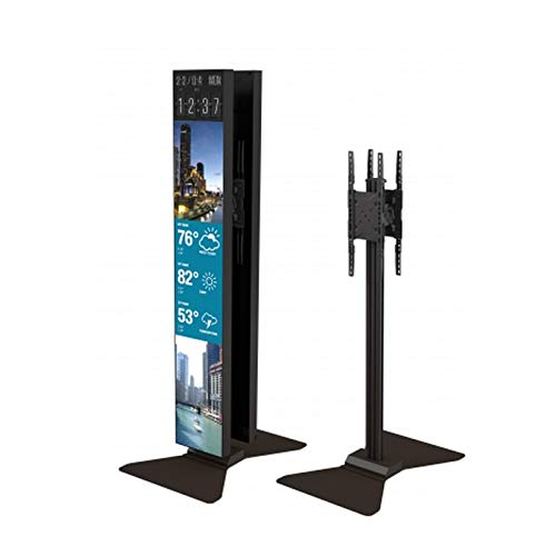 Crimson AV S86LGD Back to Back Portrait Floor Stand for Dual Displays, Black, 100 lbs (45kg) Weight Capacity, 200x600mm Max Mounting Pattern, 86