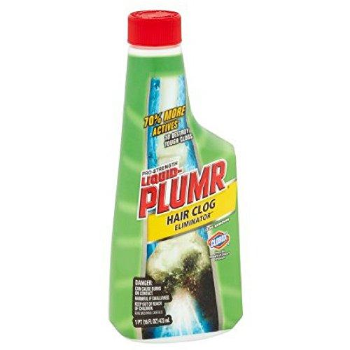 Liquid-Plumr Pro-Strength Clog Remover, Hair Clog Eliminator, 16 Fluid Ounces (2 Pack) by Liquid Plumbr (Image #1)