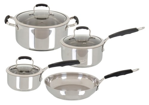 Oster Bradford 7 Piece Cookware Set, Stainless Steel