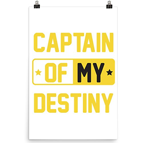 DoozyGifts99 Captain of My Destiny - Father Son - Daughter Poster